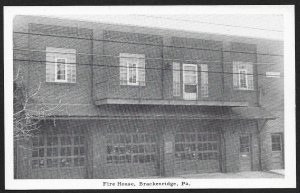 Fire House Brackenridge Pennsylvania Unused c1940s
