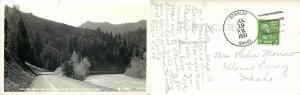Salmon River and Highway U.S. 95 near Clayton, Idaho ID  1951 RPPC