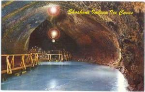 Main Room, Shoshone Ice Caves, Idaho, ID, pre-zip code Chrome