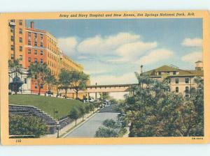 Unused Linen HOSPITAL SCENE Hot Springs National Park Arkansas AR W2836