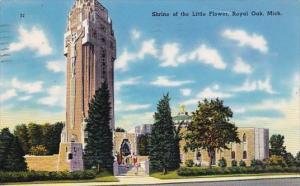 Michigan Royal Oak The Shrine Of The Little Flower 1957