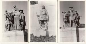 United States Memorials statues 3 real photo postcards Captain Bonneville