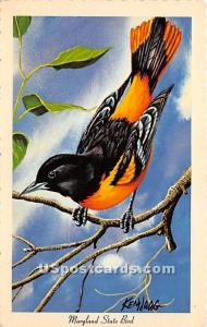 Baltimore Oriole State Bird MD Unused
