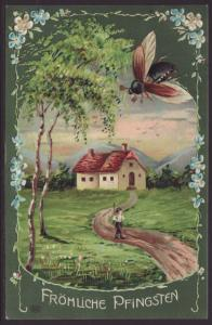 Pentecost,Wasp,Scene Postcard