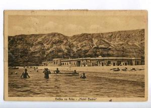 236416 CROATIA Baska na Krku Hotel Baska 1924 year RPPC