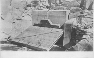 C-1908 Construction Dam Occupation Worker RPPC Photo Postcard 3328