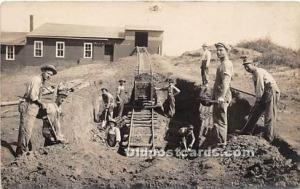 Real Photo Occupation and People Working Mine Workers Unused