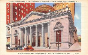 Albany New York~Albany Saving Bank~1940 Postcard