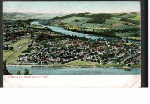 ATHENS, Pennsylvania from Round Top, PU-1909