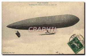 Old Postcard Jet Aviation Airship Zeppelin Vincenot The adjutant airship in f...