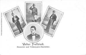 Circus Acts Post Cards Walter Frellstedt, Humorist und Volkstypen Darsteller ...