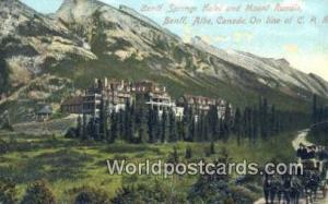 Canada Banff, Alberta Banff Springs Hotel & Mt Rundle