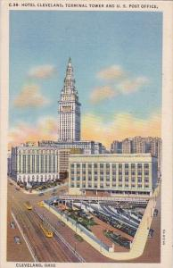 Hotel Cleveland Terminal Tower And U S Post Office Cleveland Ohio
