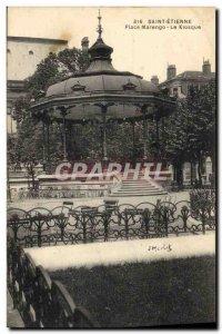 Postcard Old Kiosk Marengo Place Saint Etienne