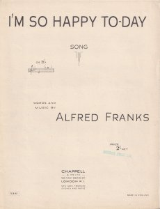 I'm So Happy Today Alan Franks Olde Sheet Music
