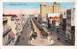 The Prado, Havana, Cuba, Early Postcard, Used in 1930