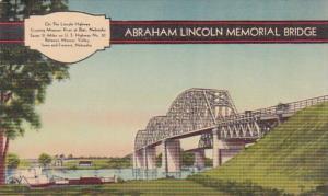 Nebraska Blair Abraham Lincoln Memorial Bridge Over Missouri River