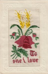EMBROIDERED, 1900-10s;  To one I Love