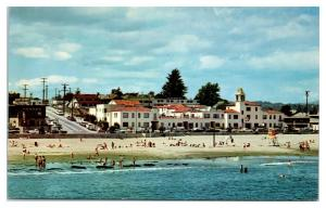 La Bahia Motel and Beach, Santa Cruz, CA Postcard *5F11