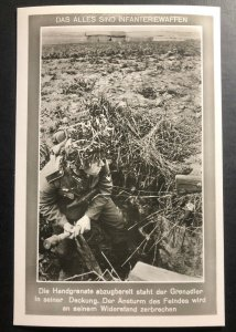 Mint Germany RPPC Postcard The infantry knows no obstacles the hand grenade