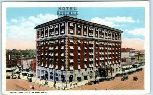 AKRON, Ohio  OH   Roadside  HOTEL PORTAGE ca 1920s Postcard