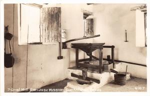 F27/ San Antonio Texas RPPC Postcard c1950s Grist Mill San Jose Mission
