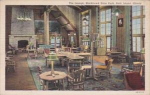 Illinois Rock Island The Lounge Blackhawk State Park Curteich