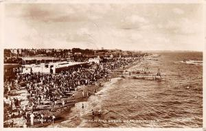 SOUTHSEA HAMPSHIRE UK BEACH & SPEED BOAT VALENTINE'S REAL PHOTO POSTCARD c1934