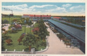 ST. AUGUSTINE , Florida , 1910s ; Florida East Coast Railroad Train Depot