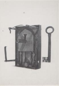 Antique Chest Lock & Key West Midlands Willenhall Museum Postcard