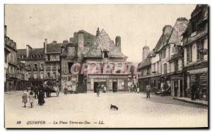 Old Postcard Quimper Place Earth Duke