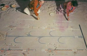 Navajos Sand Painting , 1950-60s