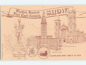 1976 postcard ad POSTCARD SOCIETY SHOW Cleveland Ohio OH F0331