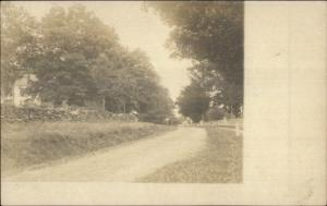 New Canaan CT Written on Back Dirt Road Scene c1905 Real Photo Postcard