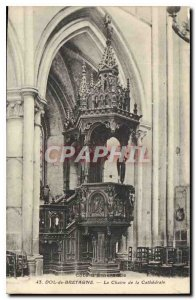 Postcard Old Dol de Bretagne The Chair of the Cathedral