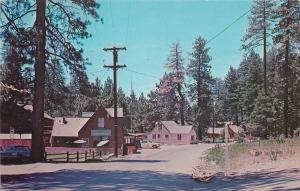 Valley Lake California~Public Camp Grounds~Groceries~7Up~1960s Cars~Postcard