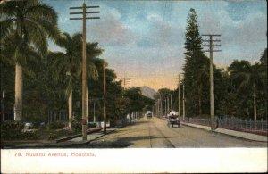 Honolulu HI Nuuanu Ave c1910 Postcard