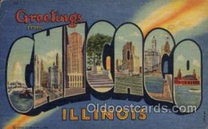Chicago, Illinois Large Letter Town Towns Post Cards Postcards  Chicago, Illi...