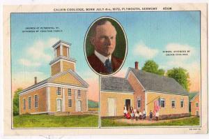 RPPC, Calvin Coolidge, Plymouth VT