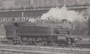 Great Western Railway GWR No 2230 Class 4-4-2T Antique Real Photo Postcard