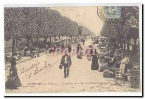 Rochefort sur Mer Old Postcard Perspective of the street & # 39arsenal TOP (p...