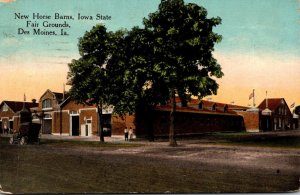 Iowa Des Moines New Horse Barns Iowa State Fair Grounds 1918