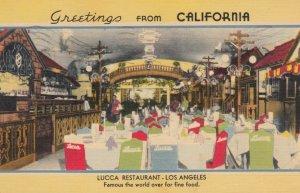 LOS ANGELES, California , 1943 ; Lucca Restaurant, Dining Room