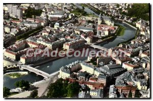 Old Postcard Epinal Vosges Aerial view
