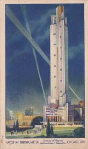 Chicago World's Fair 1933 Havoline Thermometer