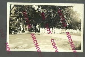 RPPC c1910 WOMEN'S RIGHTS MARCH Parade GIANT AMERICAN FLAG Social History