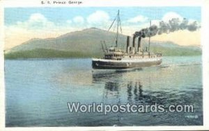 SS Prince George Vancouver Canada Writing On Back