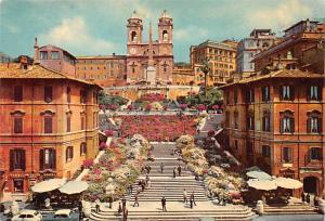 Italy Old Vintage Antique Post Card Piazza di Spagna Roma Writing on back