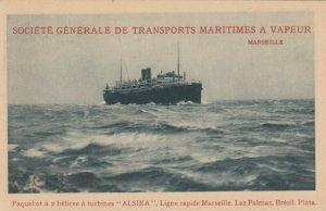 Ocean Liner ALSINA , 1910-20s