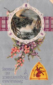 Scotland, UK Old Vintage Antique Post Card Loch Katrine 1910 Missing Stamp